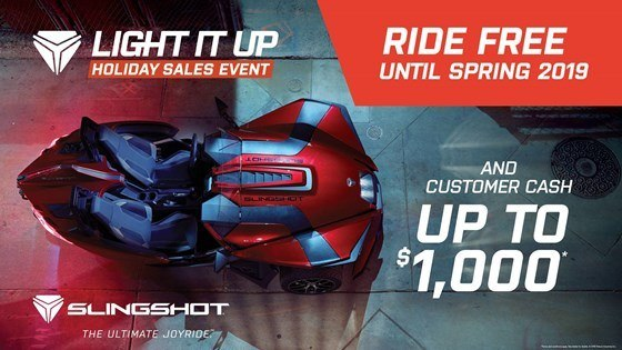 Slingshot - No Payments, No Interest Until Spring 2019